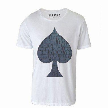 Camiseta Lucky Seven - Ace os spades
