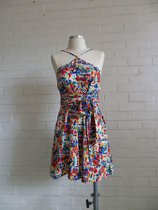 Vestido Libertação Est. Afro Pixel