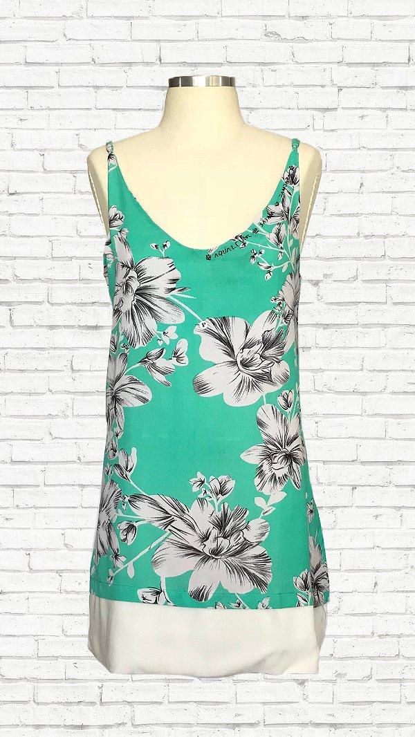 Vestido Vida c/ Barra - Est.  Floral Verde