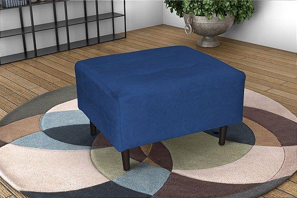 Puff Decorativo com pés palito Piva  - Veludo Azul marinho
