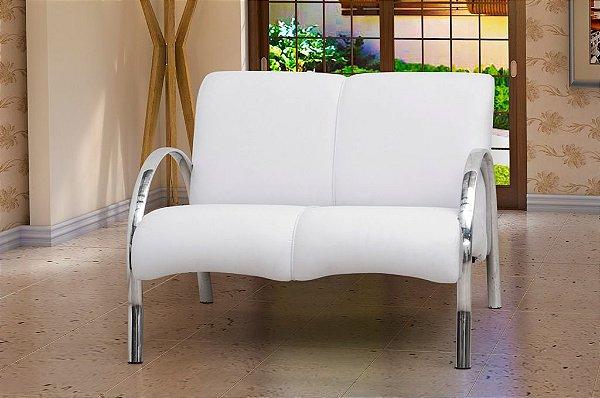 Poltrona Decorativa Polly 2 Lugares - Branco Corino