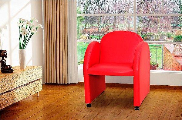 Poltrona Decorativa Nayara - Vermelho corino