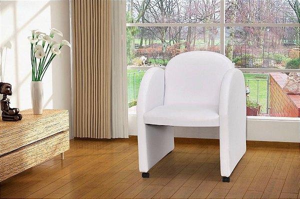 Poltrona Decorativa Nayara - Branco corino