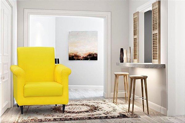 Poltrona Decorativa Betina - Amarelo corino