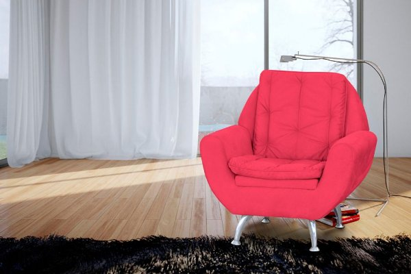 Poltrona Decorativa Glória - Vermelho