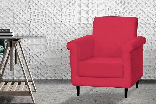 Poltrona Decorativa Betina - Vermelho pena