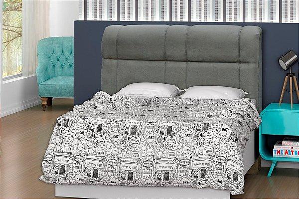 Cabeceira para cama Casal 140 cm Eros - Cinza