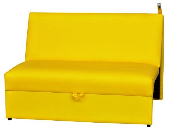 Sofá Cama Malu - Amarelo corino