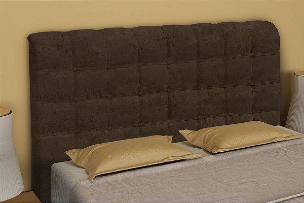 Cabeceira Cama Box Casal 165 cm Atena - Marrom escuro