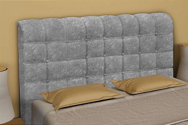 Cabeceira Cama Box Casal 145 cm Atena - Cinza