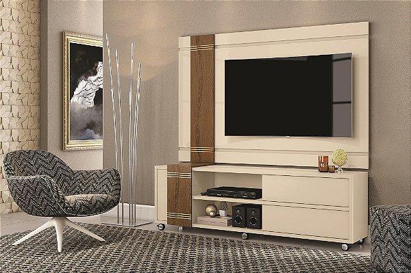 Rack Bancada com Painel para TV Orion Off White / Carv. Munique - Mobler