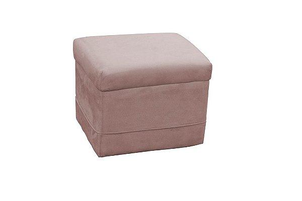 Puff Decorativo quadrado Carinho - Rosa pena