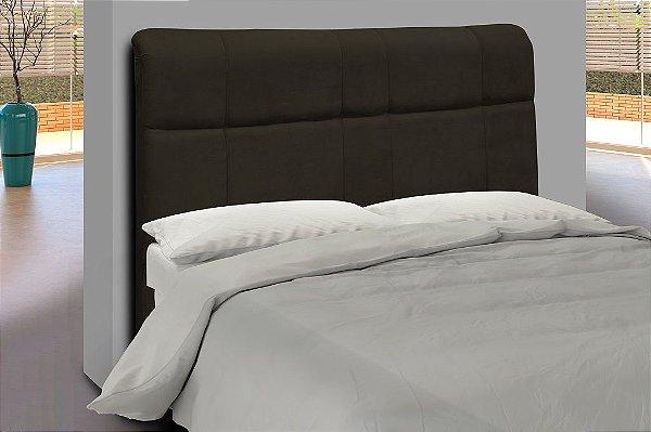 Cabeceira para cama Casal 140 cm Eros - Marrom escuro pena