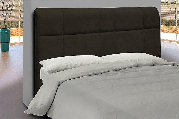 Cabeceira para cama Casal 160 cm Eros - Marrom escuro pena