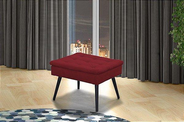 Puff Decorativo pés palito Conforto - Vermelho pena