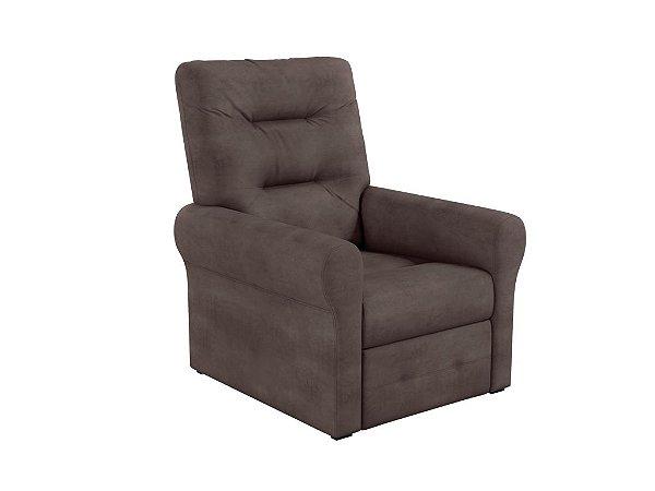 Poltrona do papai reclinável Clio - Veludo Marrom escuro