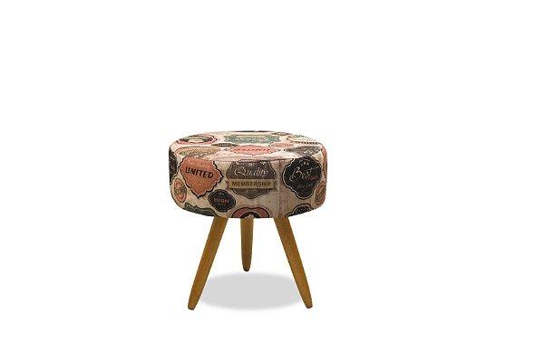 Puff Decorativo pés palito Florença - Estampado 149