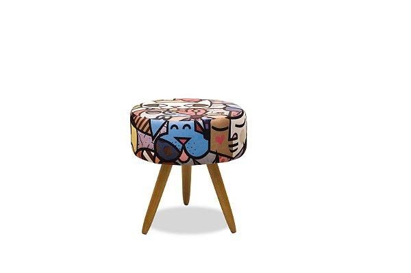 Puff Decorativo pés palito Florença - Estampado 150