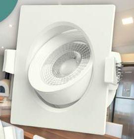 Luminária Downlight  Spot LED Quadrado  5W  Bivolt