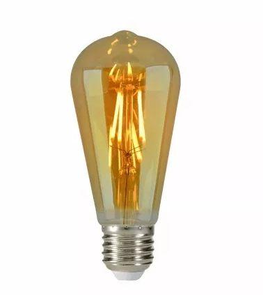 Lâmpada Filamento Led Decorativa Retrô Vintage Âmbar ST64