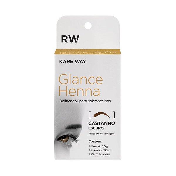 Delineador para Sobrancelhas Castanho Escuro - Glance Henna - Rare Way