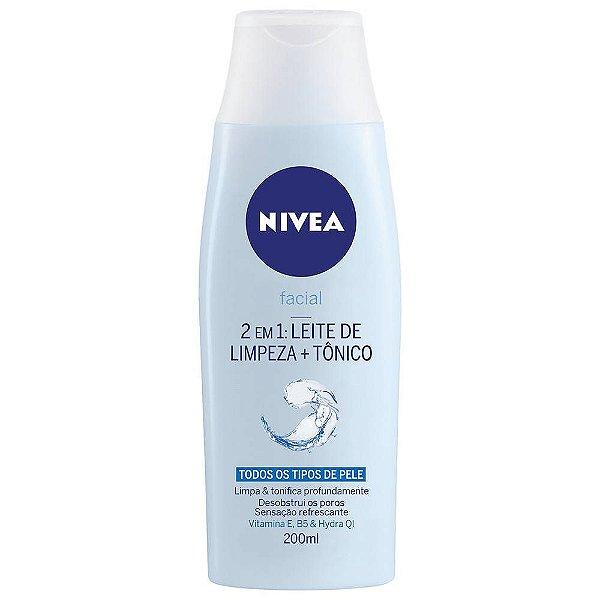 2 em 1: Leite de Limpeza + Tônico - Nivea