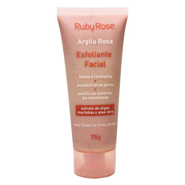Esfoliante Facial Argila Rosa - HB-405 - Ruby Rose