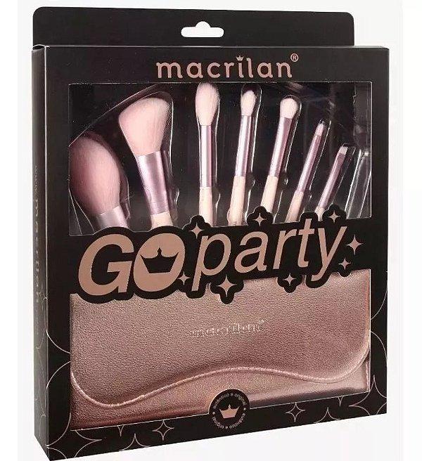 Kit com 7 Pincéis Profissionais Go Party - ED007 - Macrilan