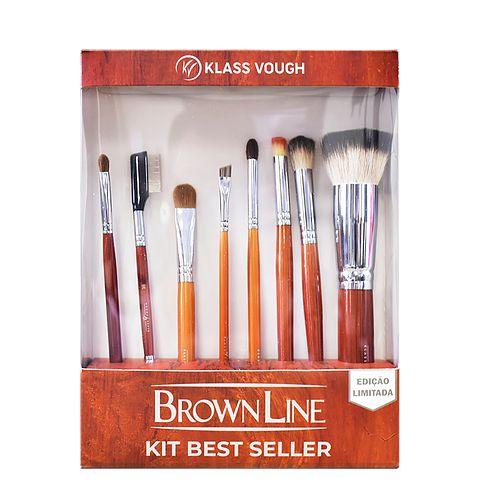 Kit de Pincéis Brown Line Best Seller - Klass Vough