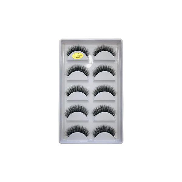 Kit com 5 pares de Cílios Postiços 3D - X06
