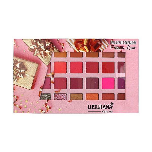 Paleta de Sombras 28 Cores - Presente Luxo - B00093 - Ludurana