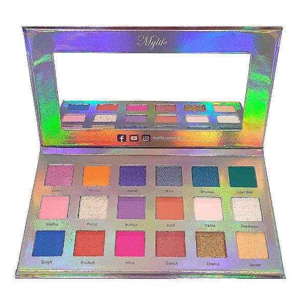 Paleta de Sombras 18 Cores - Illuminate Beauty - MY8259 - Mylife