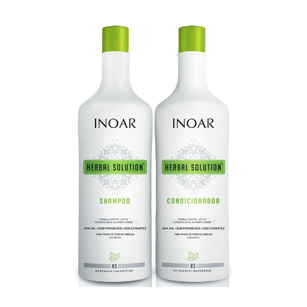 Kit Duo Inoar Herbal Shampoo 1000ml + Condicionador 1000ml