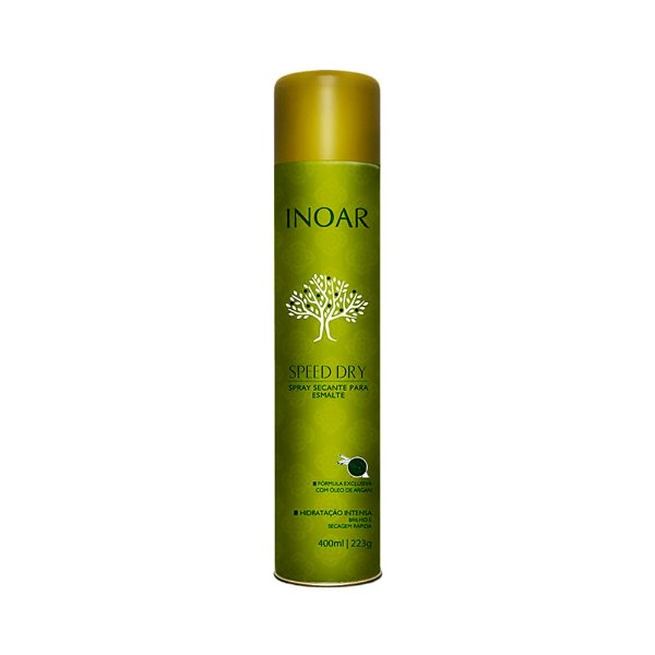 Spray Secante para Esmalte Inoar Speed Dry com Óleo de Argan 400ml