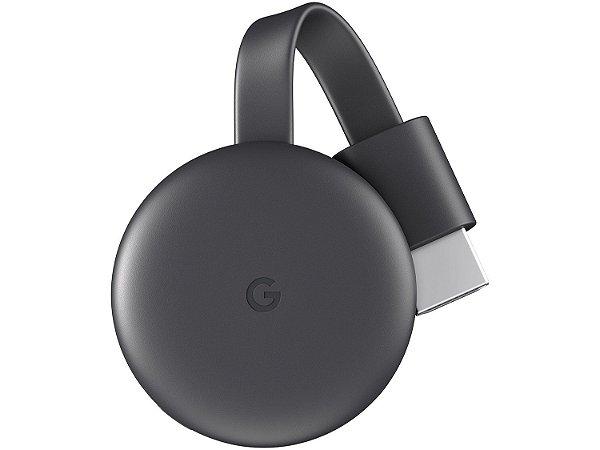 Google Chromecast 3 Full HD com Wi-Fi/HDMI - Preto