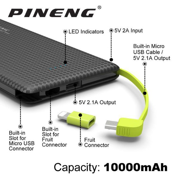 Pineng Powerbank - 10mil mAh