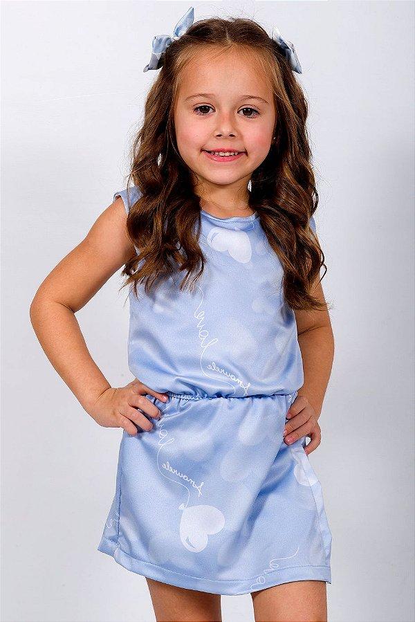 Macaquinho Infantil sem Manga Balão Azul