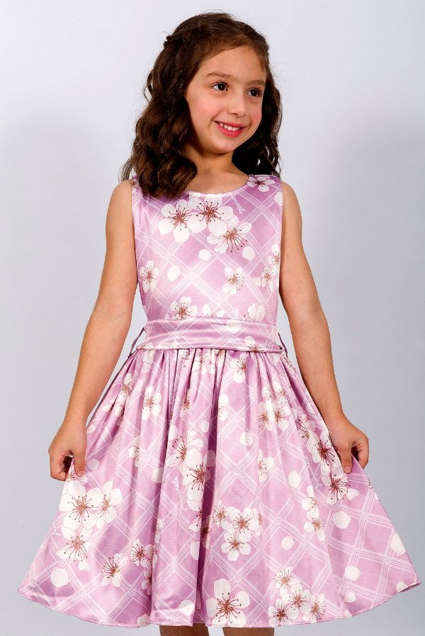 Vestido Infantil Xadrez Rosa