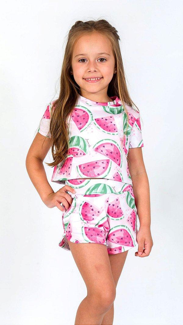 Conjunto Infantil Blusa e Shorts Melancia