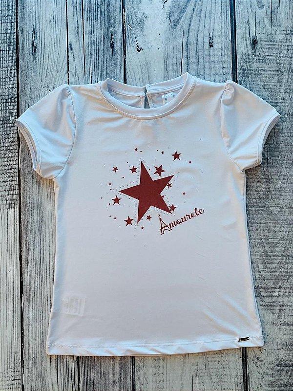 Blusa Infantil com Estampa Estrela Vermelho