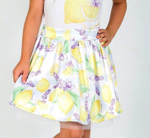 Saia Infantil com Estampa Limão Amarelo