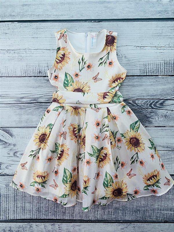 Vestido Infantil Girassol