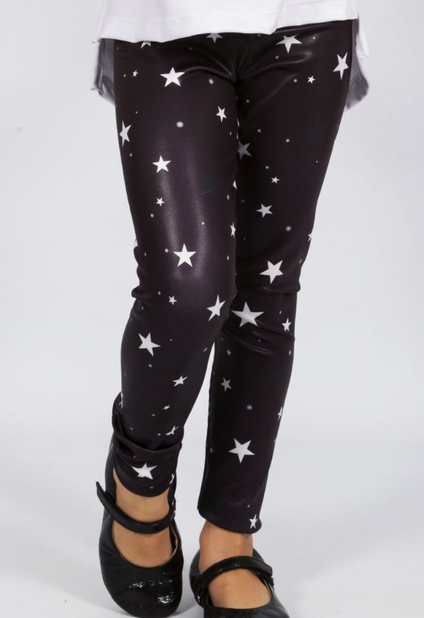 Legging Comprida Estrelas Preto