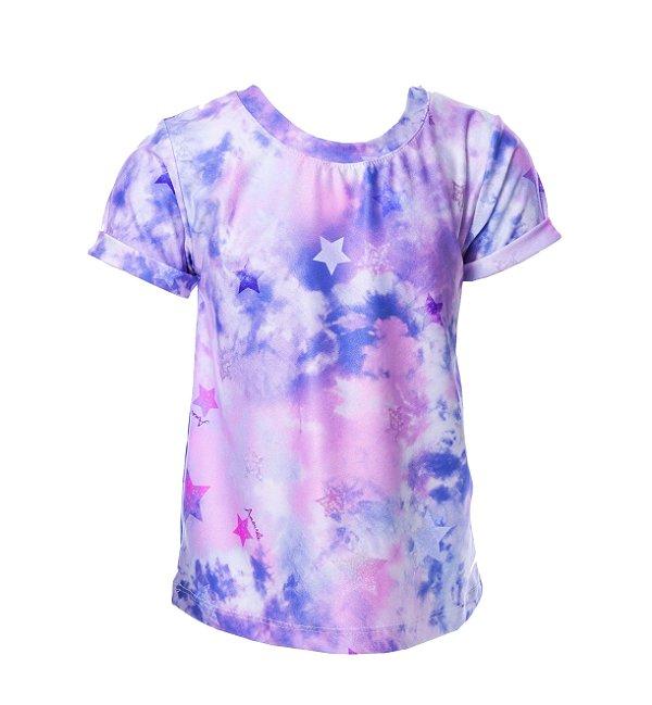 Blusa Infantil Tie Dye Roxo