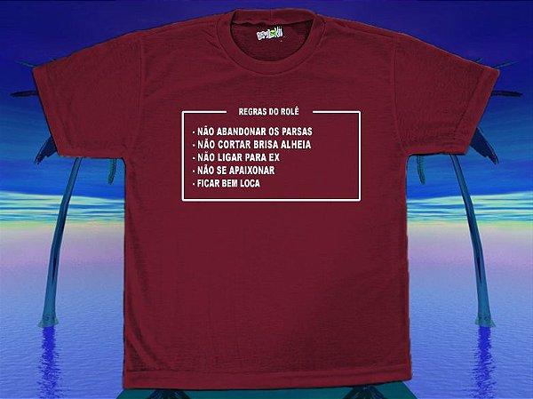 Camiseta Regras do Rolê