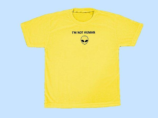 Camiseta Eu não sou Humano