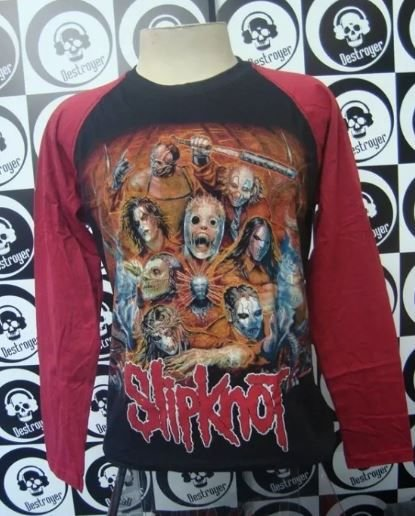Camiseta Manga Longa Raglan - Slipknot