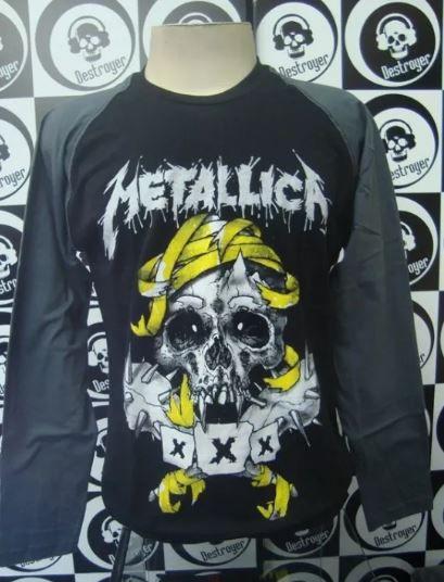 Camiseta Manga Longa Raglan - Metallica - XXX