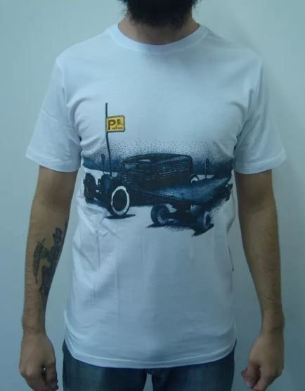 Camiseta Hot Rod & Skateboard