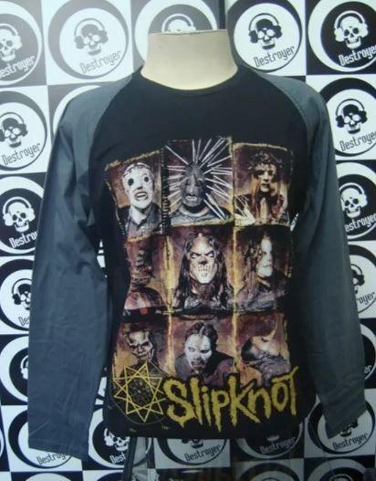 Camiseta Manga Longa Raglan Slipknot